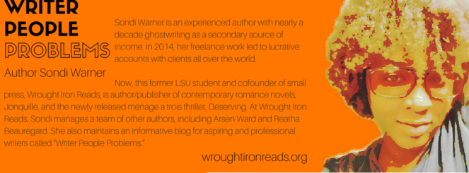 WRITER PEOPLE PROBLEMS AUTHOR BIO